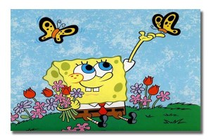 CT0054 Spongebob Gathering Flowers