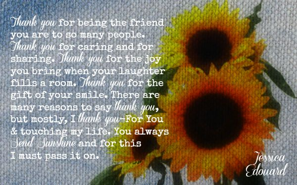 My Sincere Thanks and Appreciation